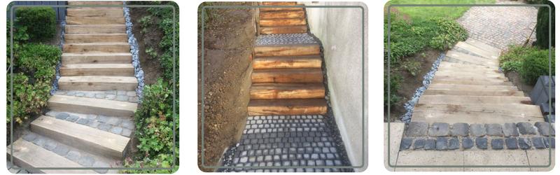 Wir führen Wege- und Treppenbau im Rahmen des Gartenbaus in Koblenz durch.